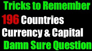 Tricks to Remember ALL 196 Countries Currency & Capital ALL in 1 Trick | No one Found Yet -1