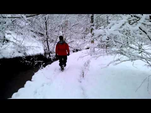 001 Snowy walk through Lathkill dale