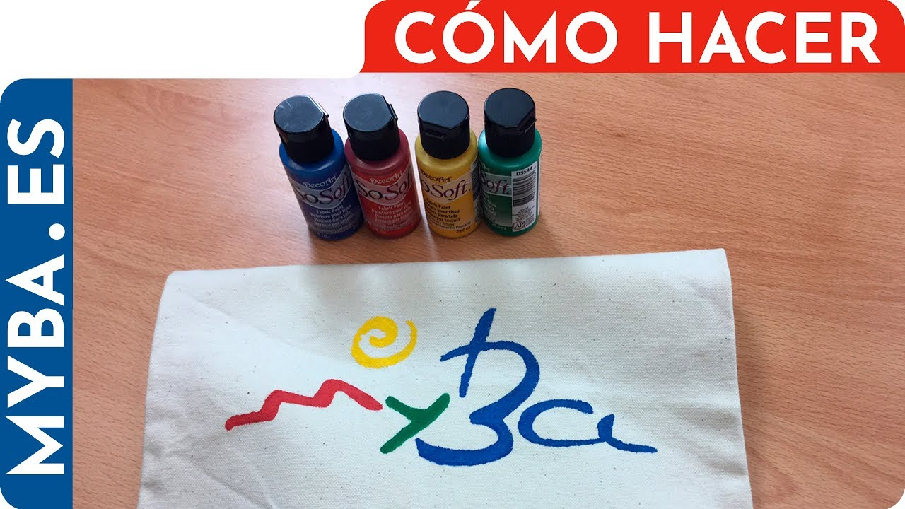 Cómo Pintar Bolsa De Tela Stencil Sobre Tela Con Plantilla Logotipo