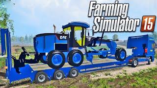 Farming Simulator 2015 - Caminhão com Motoniveladora