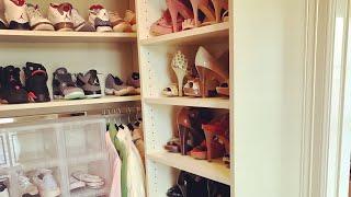 Master Closet: Unpack, HangerSwap (plastic to velvet) @OrganizedbLiMcGi