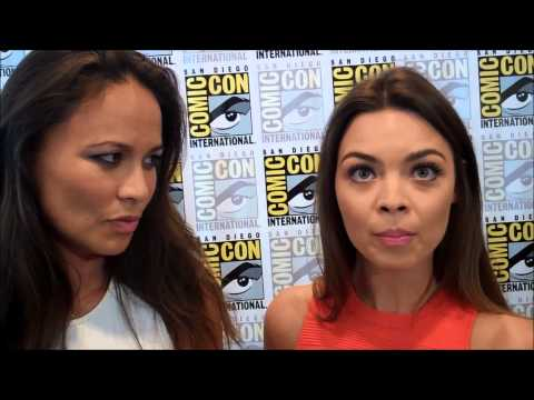 San Diego Comic Con 2014 | Moon Bloodgood & Scarlett Byrne | final season of Falling Skies