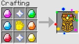 Minecraft UHC but you can craft the INFINITY GAUNTLET...