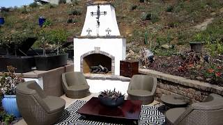 Eldorado Hills Outdoor Fireplace Built Into A Hillside, Pool Side By Gpt Construction