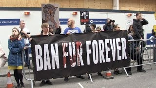Anti fur organisation Peta protesting on front of Victoria Beckham fashion show in London