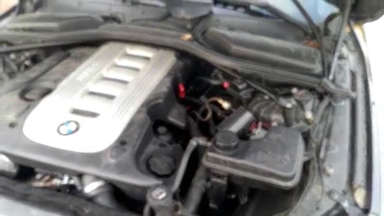 solved - smoke from engine compartment driver side bmw e60 525d