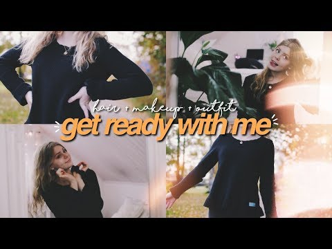 GET READY WITH ME: for school! hair + makeup + outfit