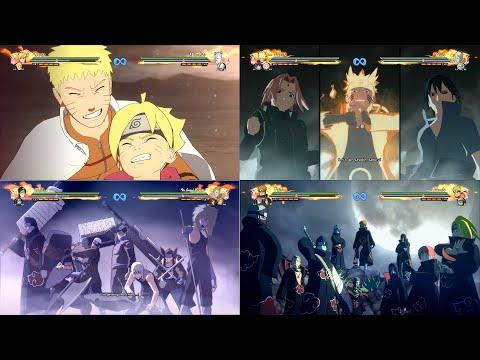 Naruto Shippuden Ultimate Storm 4 - All Team Ultimate Jutsu Including Dlcs/Road To Boruto  