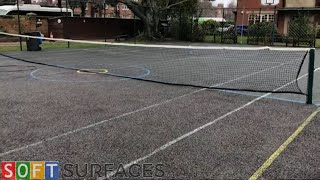 MUGA Sports Court Cleaning at a School in Banbury, Oxfordshire | Clean & Paint Job
