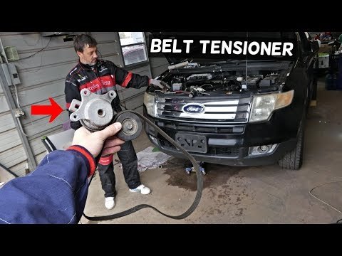 ford-edge-serpentine-belt-tensioner-replacement-removal.-lincoln-mkx