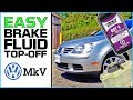 How To Access Brake Fluid Reservoir On VW MkV Golf The EASY WAY (MkV Golf Brake Fluid Top-Off)