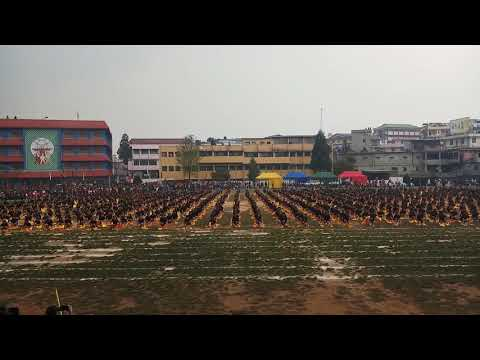 St Mary's Class 6 to 10 Drill(Shillong)- Choreographed by Risaka Nancy Pyrbot