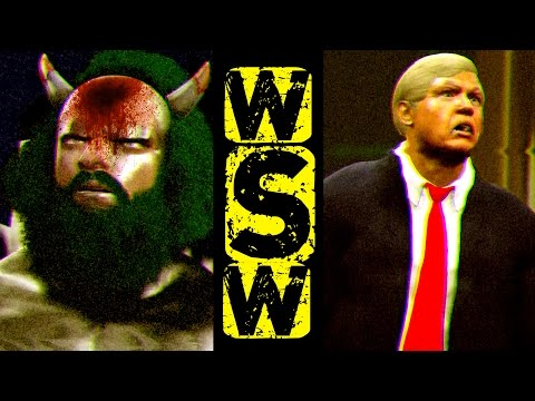 MECHA SANTA VS. OMEGA!  TRUMP WORLD TITLE SHOCKER! WSteveW Ep. 3 (WWE 2K17 Gameplay)
