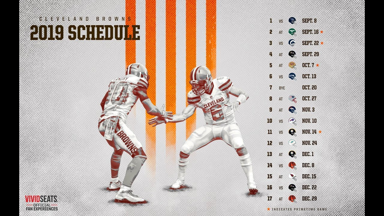 Cleveland Browns announce 2019 schedule