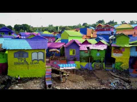 Color Slum Houses, Malang, Indonesia