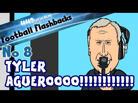MARTIN TYLER - Aguero! What you didn't see (Football Flashback No 8 Cartoon Parody)