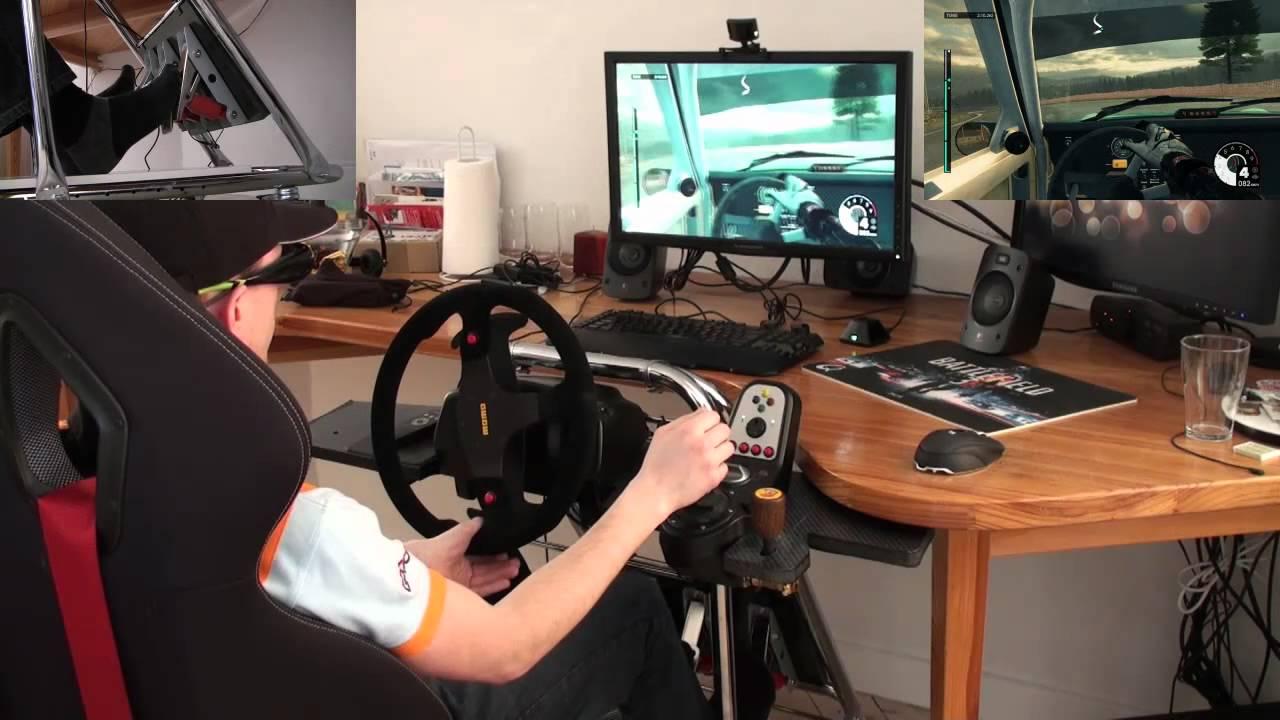Custom Gaming Chair Sure Fit Dining Slipcovers Diy Simulator Seat - Youtube