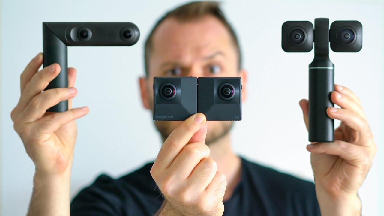 Insta360 EVO vs. Vuze XR vs. Qoocam: BEST 3D180/360 Camera?