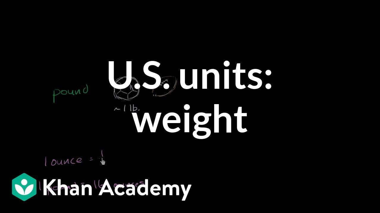 U S  customary units: weight (video) | Khan Academy