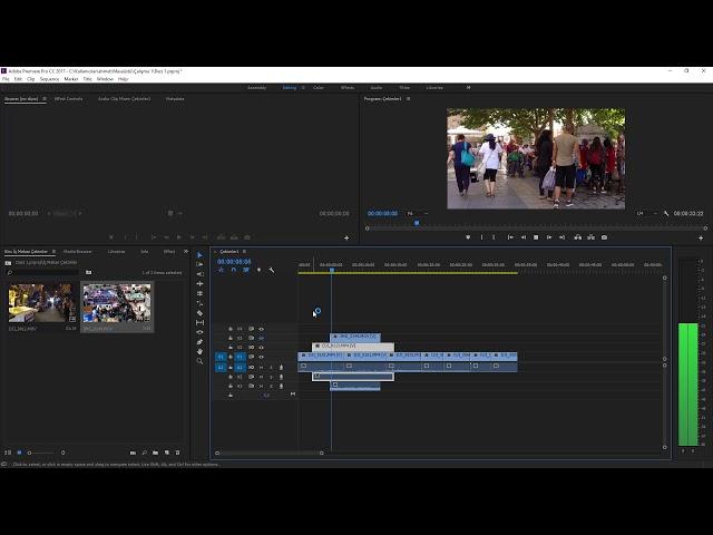 Premiere Pro Eğitimi 09 -  Zaman Çizelgesinde Video ve ses Kanallarını gizleyip göstermek kilitlemek