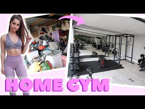 Transforming My GARAGE Into A HOME GYM!! Home Gym Tour
