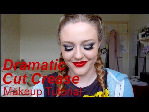 dramatic cut crease ♡ makeup tutorial  lulabella11  youtube