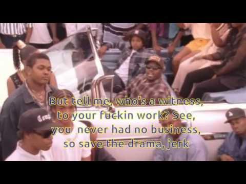Eazy-E - Real Muthaphukkin Gs (Karaoke)
