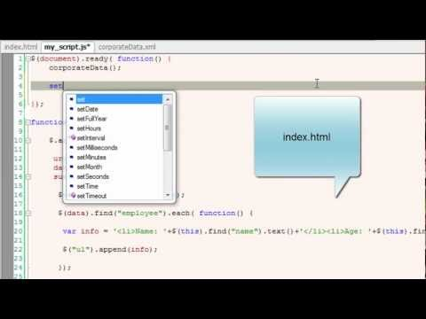 Reading XML File Using jQuery AJAX Method