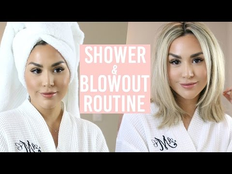 HOW I STYLE MY HAIR! SHOWER AND BLOW DRY ROUTINE!