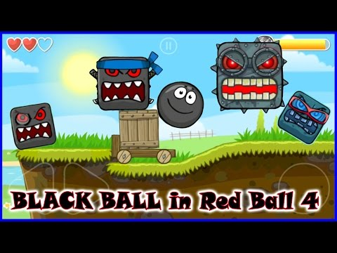 Red Ball 4 full game finished; complete walkthrough with BLACK BALL.
