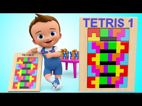 Thumbnail: Learn Colors for Children with Baby Wooden Blocks Tetris Puzzle Shapes Toy Play Set Toddler Activity