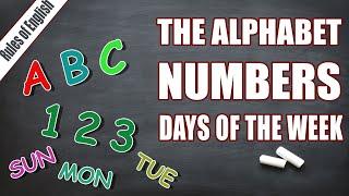 ВВОДНЫЙ УРОК | Алфавит | Числа от 1 до 10 | Названия дней недели
