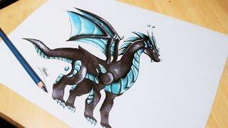 ☼ Speed Drawing ☼ : Dragon Tesla ( Dragon city )