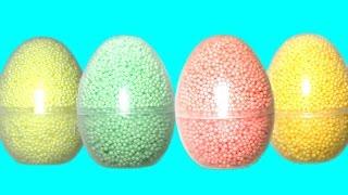 Сюрпризы из шарикового пластилина Ам Ням, Энгри Бердс, Пони Frozen Clay Foam Surprise Eggs Toys