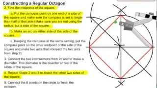 Constructing An Regular Octagon