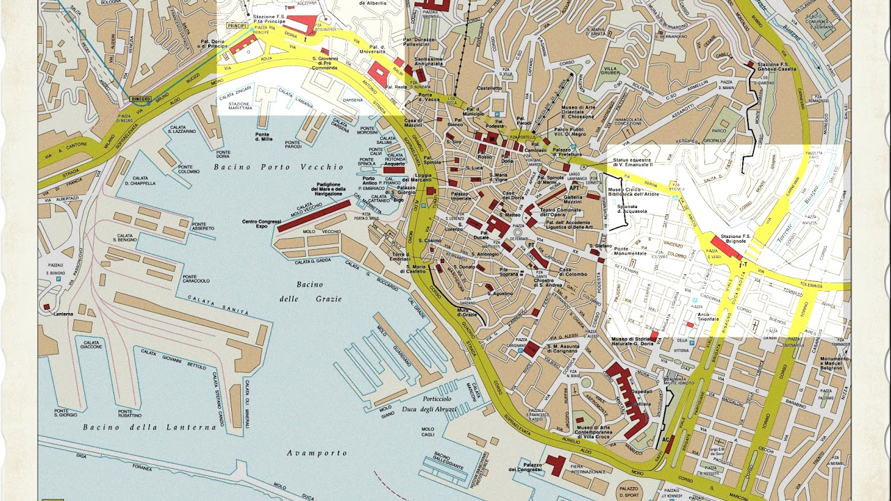 Genova Cartina.Cartina Genova Youtube