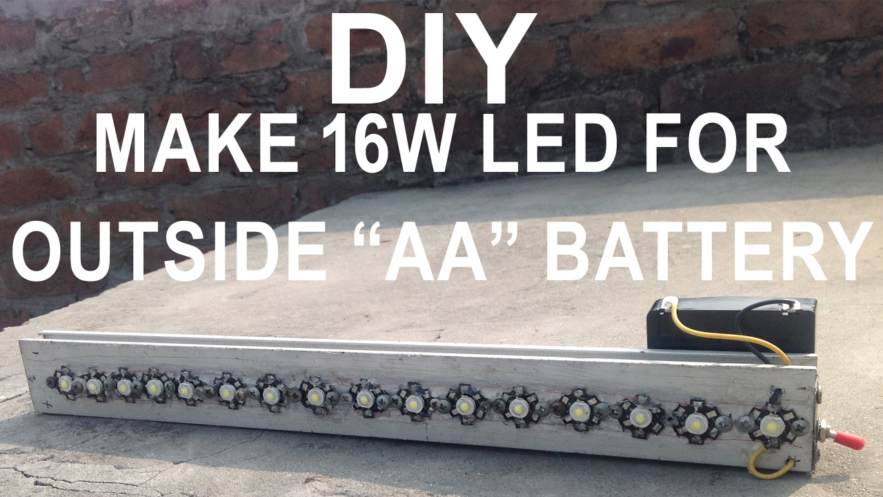 Diy how to make bright 16w led light bar for outside easy youtube diy how to make bright 16w led light bar for outside easy aloadofball Gallery