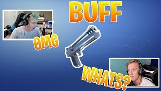 TFUE & NINJA Reacts to *NEW* Desert Eagle BUFF - Fortnite Epic & Funny Moments