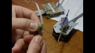 Микрошаговый драйвер из старого принтера на микроконтроллере ATmega32