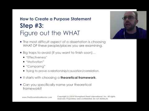 How to Write a Purpose Statement for My Dissertation