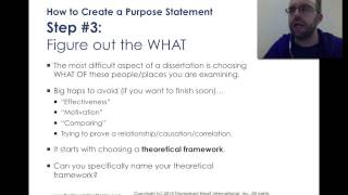 How to Write a Purpose Statement for My Dissertation(, 2014-10-01T01:21:36.000Z)
