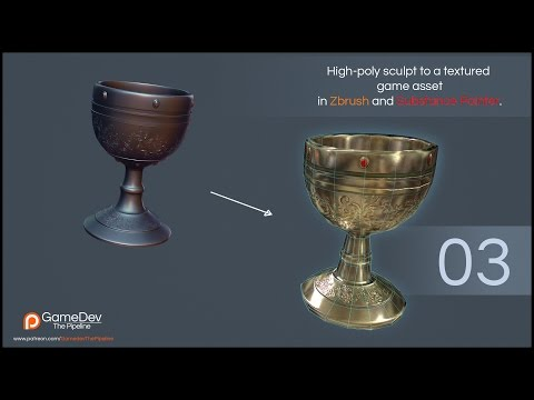 From Zbrush to a Game Asset Part 3: UVs, Low Poly Mesh and Texturing