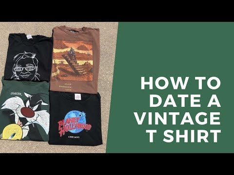How To Date Vintage T Shirts!