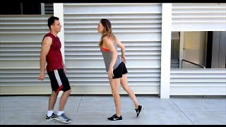Bold Guy vs Parkour Girl(Confident and funny the Bold Guy tries to pick up a girl who challenges him to a parkour / freerunning chase. Music: