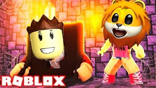 the adventures of Cartoon hero in ROBLOX from LION CUB to Escape SPTV TOSH Robloks-who CLOSED the Castle?