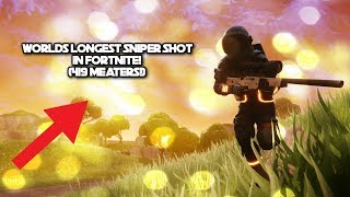 Worlds Longest Sniper Shot In Fortnite! (419 meters!)