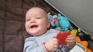 CUTE BABY TRYING TO SAY DADDY!!