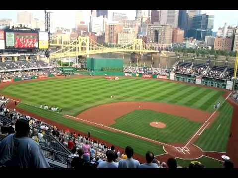 Streams Elementary School 4th Grade Chorus singing National Anthem at the Pittsburgh Pirates Game.