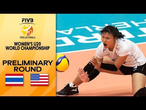 LIVE 🔴  THA vs. USA   Pre-Round   Women's U20 Volleyball World Champs