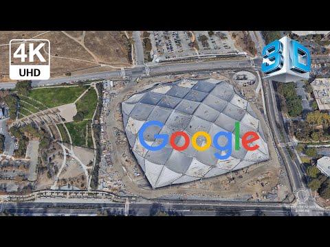 Google Headquarters Googleplex 4K Mountain View California USA 3D Photogrammetry